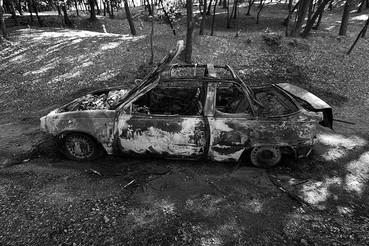 El cotxe cremat