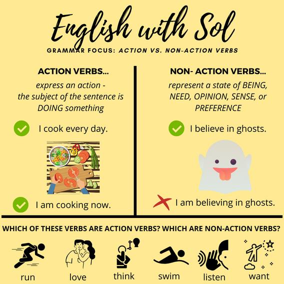 Action vs. Non-Action Verbs