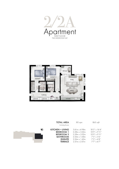 2/2a Apartment