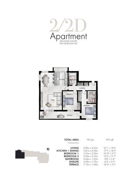 2/2d Apartment