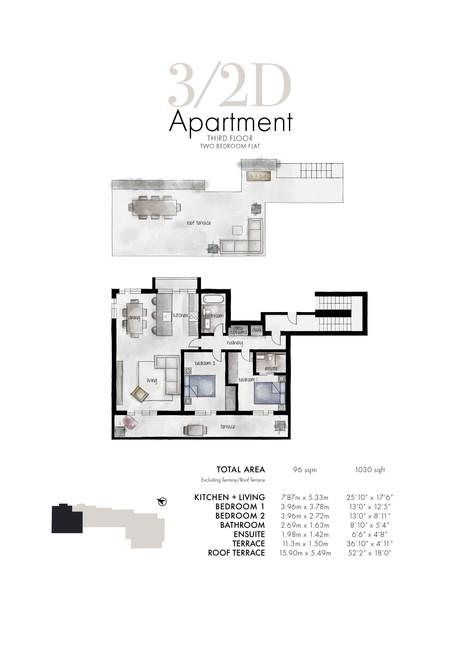 3/2d Apartment