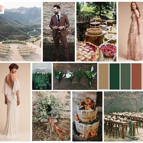 Fall 2019 Wedding Details: Mountain Style Board