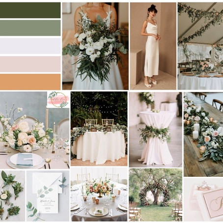 Spring 2020 Wedding Details: Subtle Hints Style Board