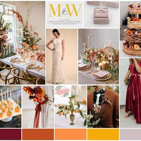 Fall 2019 Wedding Details: Orange & Floral