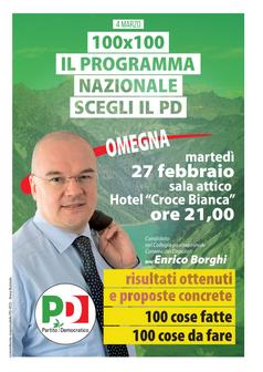 100X100: Enrico Borghi e il programma del Pd