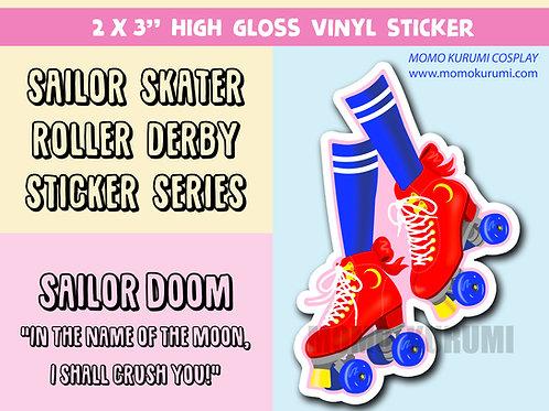 Moon Derby Roller Skate Sticker