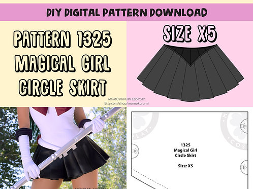 Magical Girl Circle Skirt Pattern (Size X5)