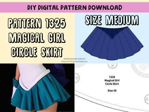 DIY- Magical Girl Circle Skirt Pattern (Size Medium)