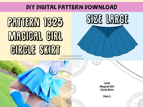 DIY- Magical Girl Circle Skirt Pattern (Size Large)