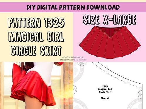 DIY- Magical Girl Circle Skirt Pattern (Size X-Large)