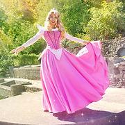 Princess Aurora Pink Dress from Disney's Sleeping Beauty at Loveland Castle by Momo Kurumi Cosplay