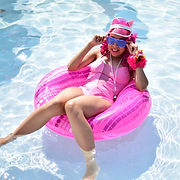 Pinkie Pie Original Design Pool Party Swimsuit from My Little Pony: Friendship is Magic at ColossalCon 2018 at the Kalahari Resort by Momo Kurumi Cosplay