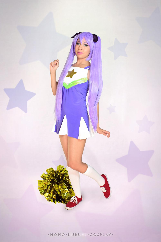 Momo Kurumi Cosplay as Kagami Hiiragi from Lucky Star