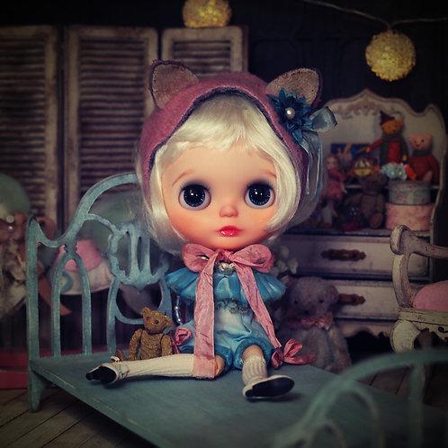 ベッド - Mint Blue -
