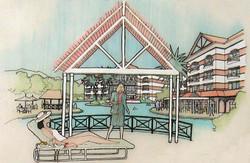 Court lagoon 3D views