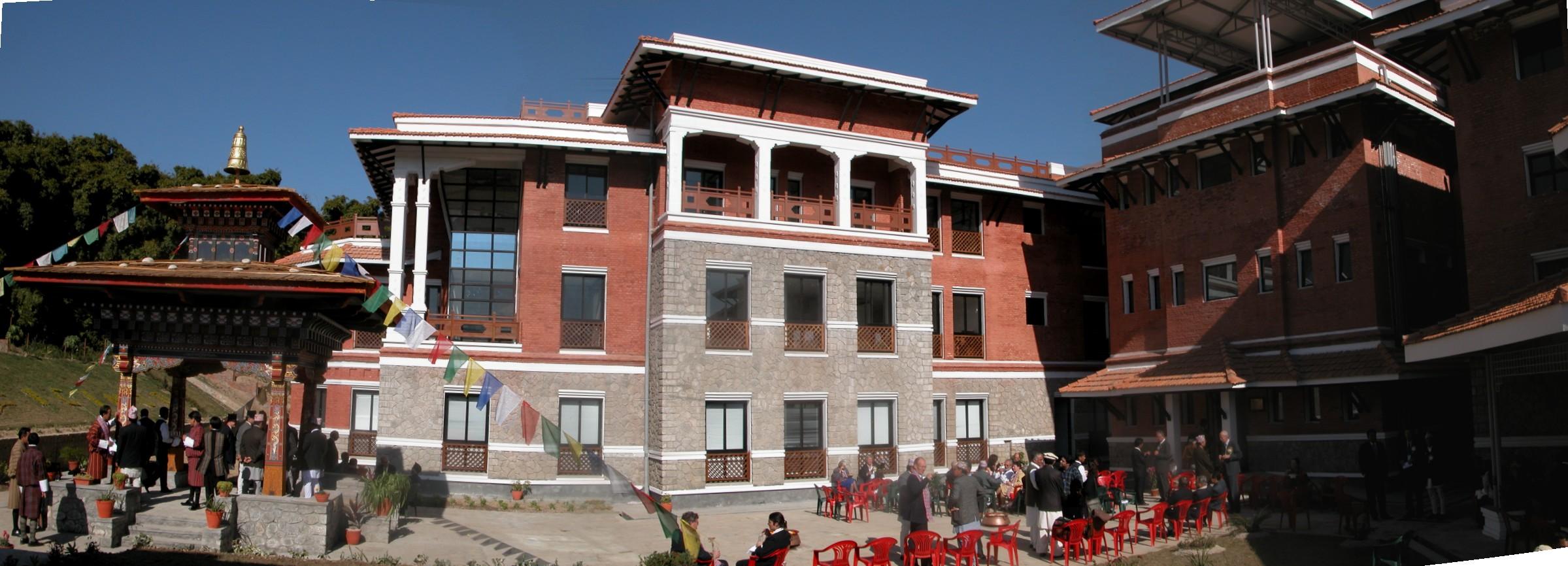 The court and Bhutan pavillion