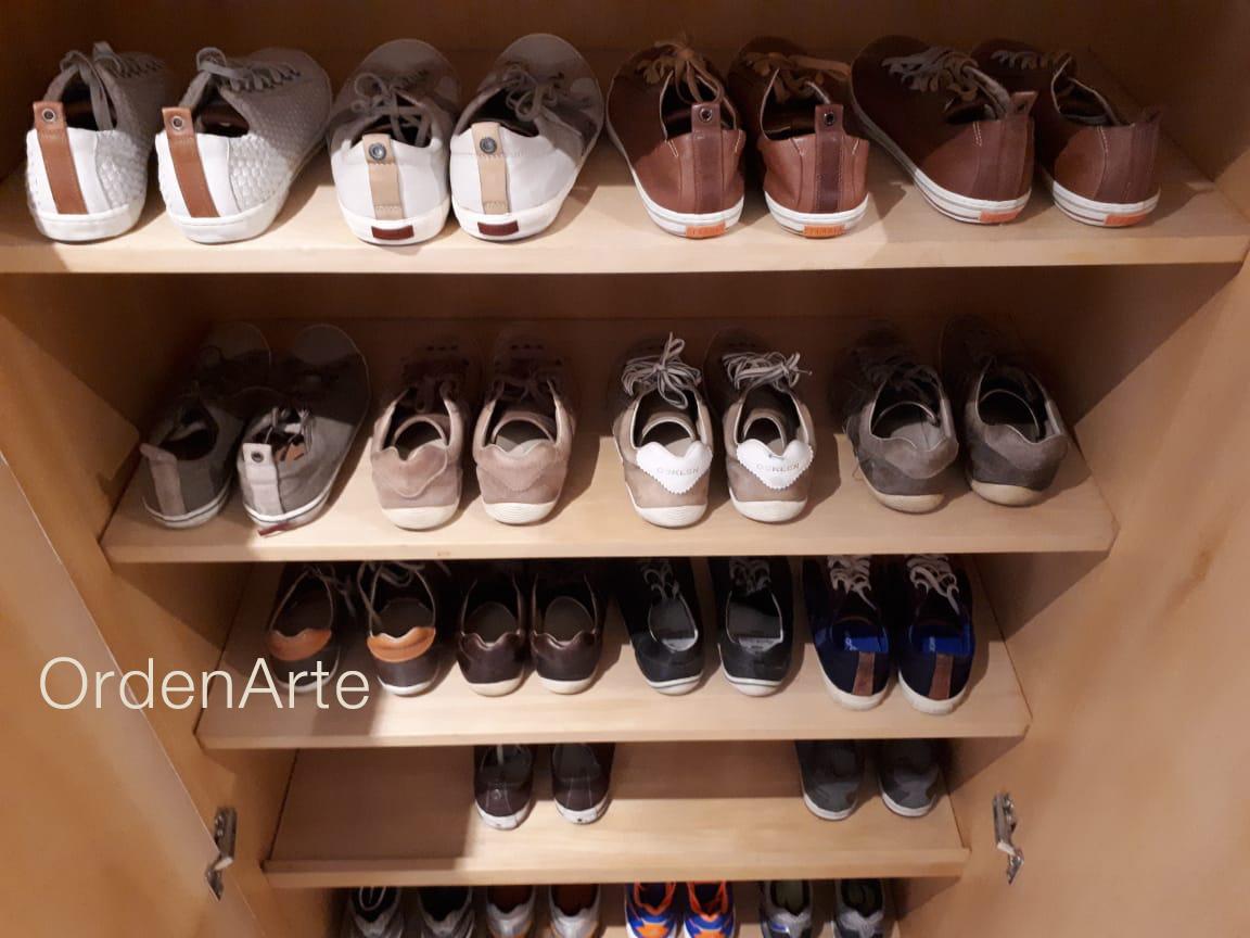 sapatos organizados