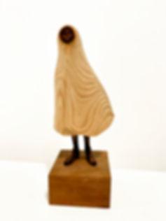 Chung Wai Lun , Traveller 1,  鍾偉倫 ,《旅者1》, 2018, Wood, 21cm x 10cm x 5.5cm