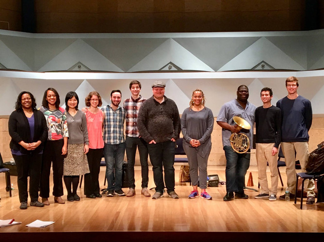 The Imani Winds and student composers