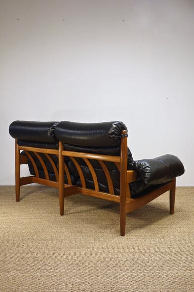 Canapé en cuir d'Eric Merthen pour Ire Möbler, Suède 1960's