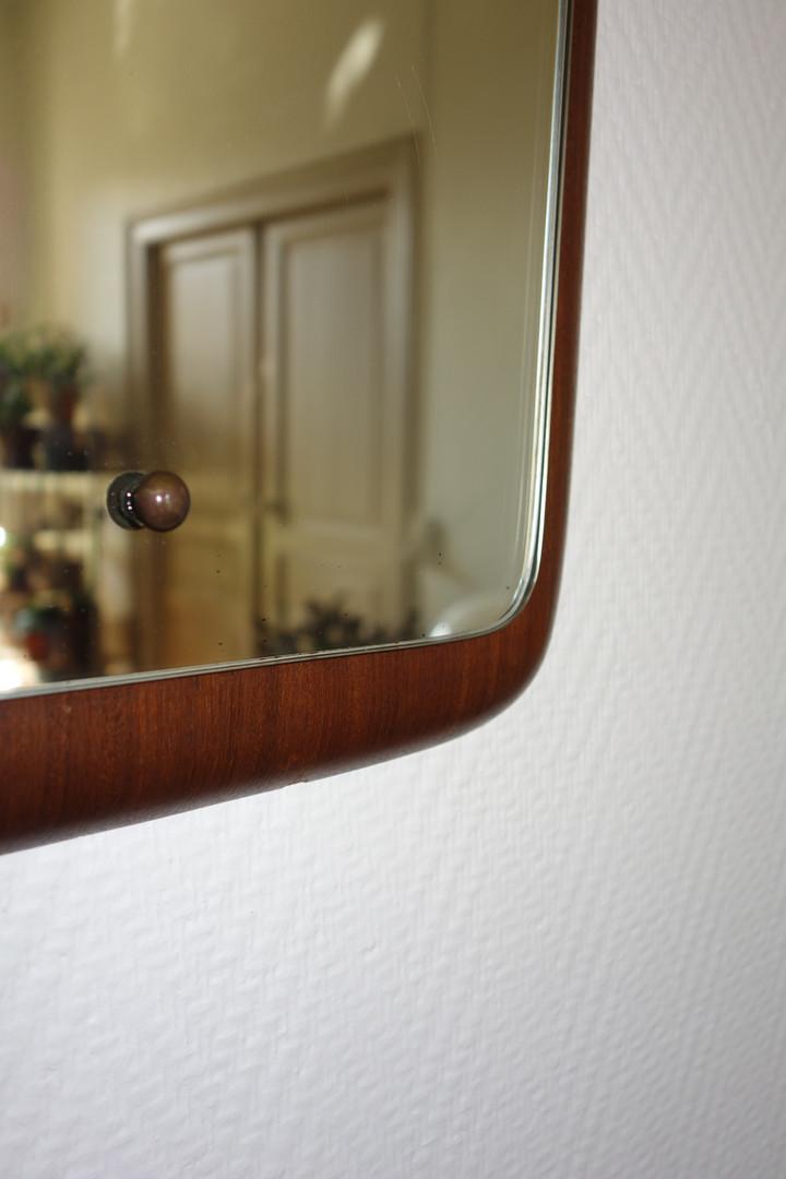 Miroir scandinave en teck des années 196