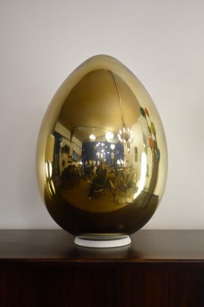 Lampe oeuf doré contemporain
