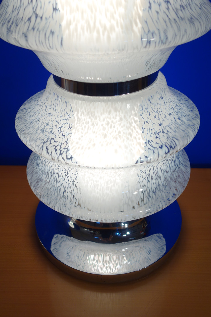 Lampe Murano moucheté des années 70