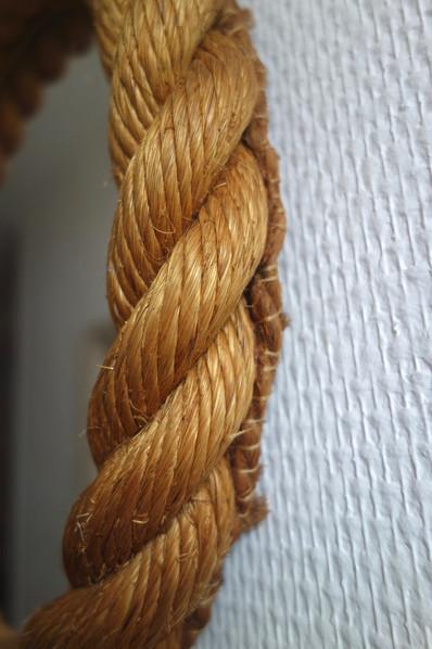 Miroir en corde d' Audoux Minnet des ann