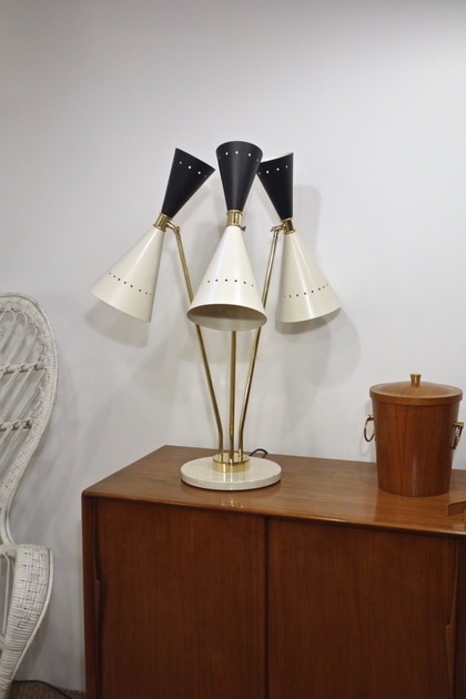 Lampe diabolo contemporain Italien style 50's Stilnovo