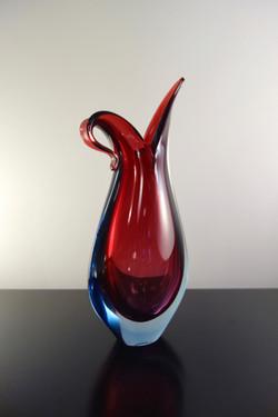 Vase Murano de Flavio Poli pour Seguso année 50