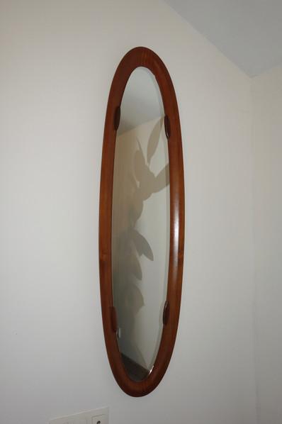 Miroir psyché en teck par Campo & Graffi, Italie 1950's