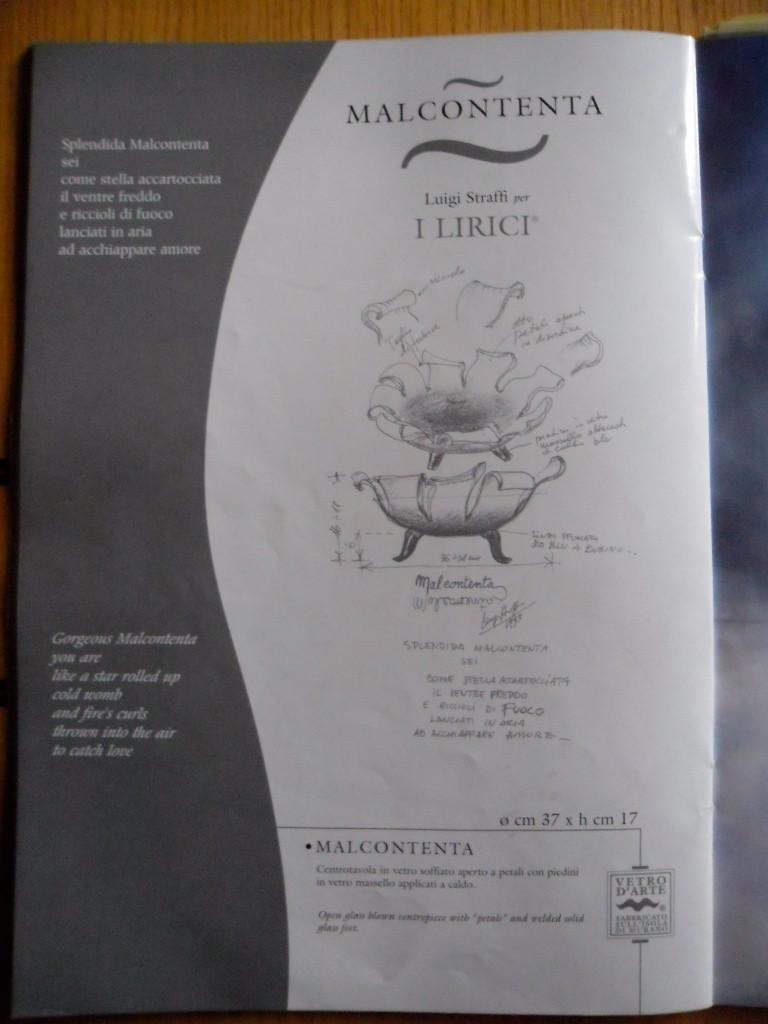 Centre de table Malcontenta de Luigi Straffi pour I Lirici