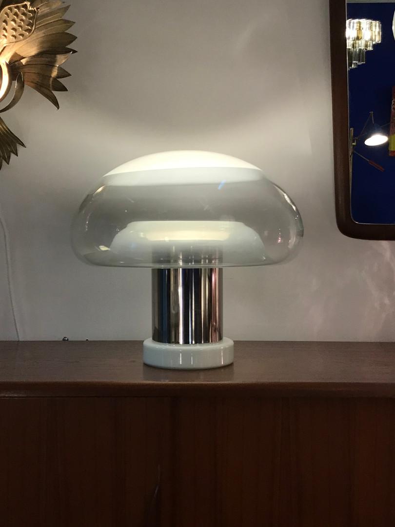 Lampe champignon Murano de Michael Red pour Vistosi circa 1970's