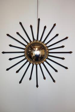 Miroir de sorcière Chaty Vallauris année 50