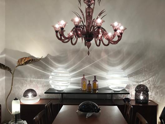 Lustre Vénitien en verre de Murano Ameth