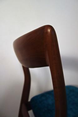 Série de 6 chaises Danoise de Viborg Stolefabrik en teck des années 60