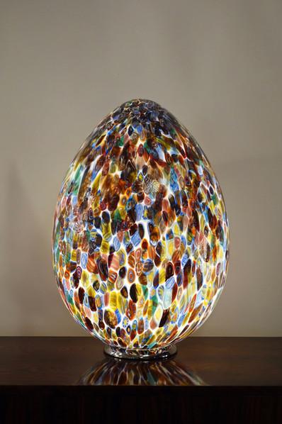 Lampe oeuf contemporain Murrine