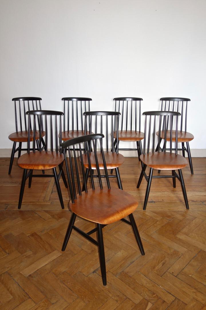 8 chaises Fanett d'Ilmari Tapiovaara pou