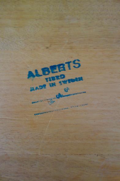 Table basse scandinave en teck d'Alberts
