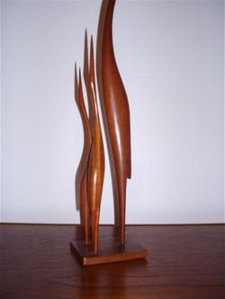 Sculpture scandinave hérons teck année 60
