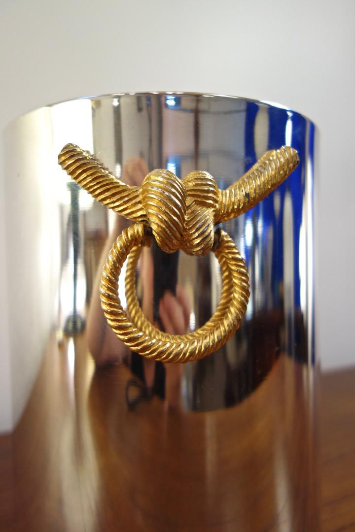 Seau à champagne vintage par Lancel circa 1970