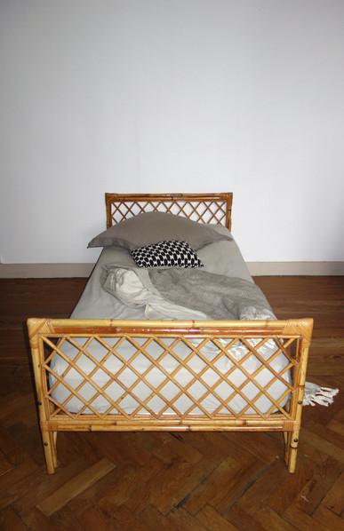 Lit _ Day bed en rotin