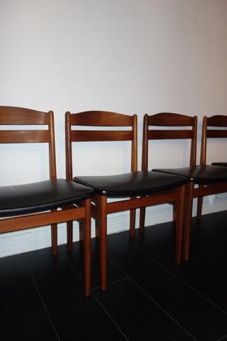 Série de 6 chaises Danoises par Boltinge