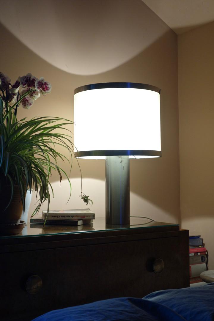 Lampe vintage en plu brossé des années 7