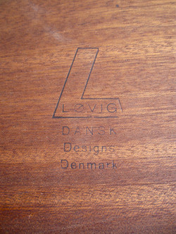 Table basse Danoise en teck massif de Peter Løvig Nielsen année 60