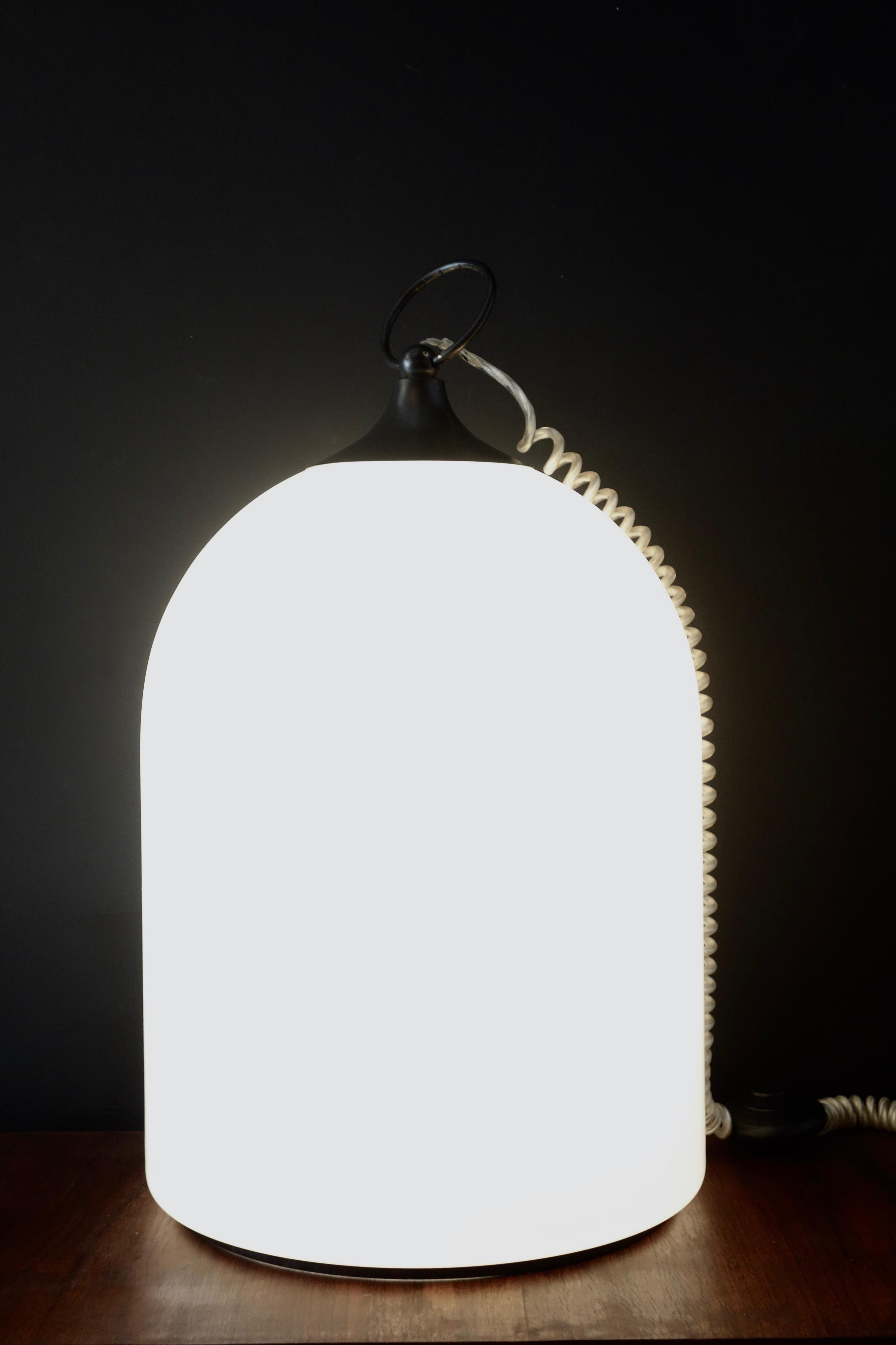 Lampe verre soufflé Murano année 80