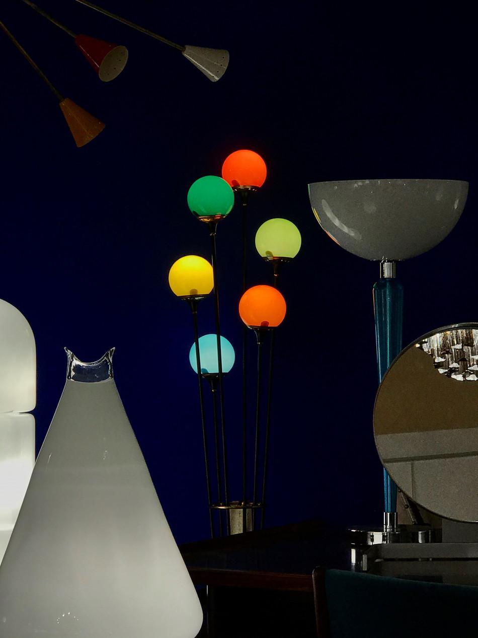 Lampadaire Stilnovo mutlicolore Galerie du Futur