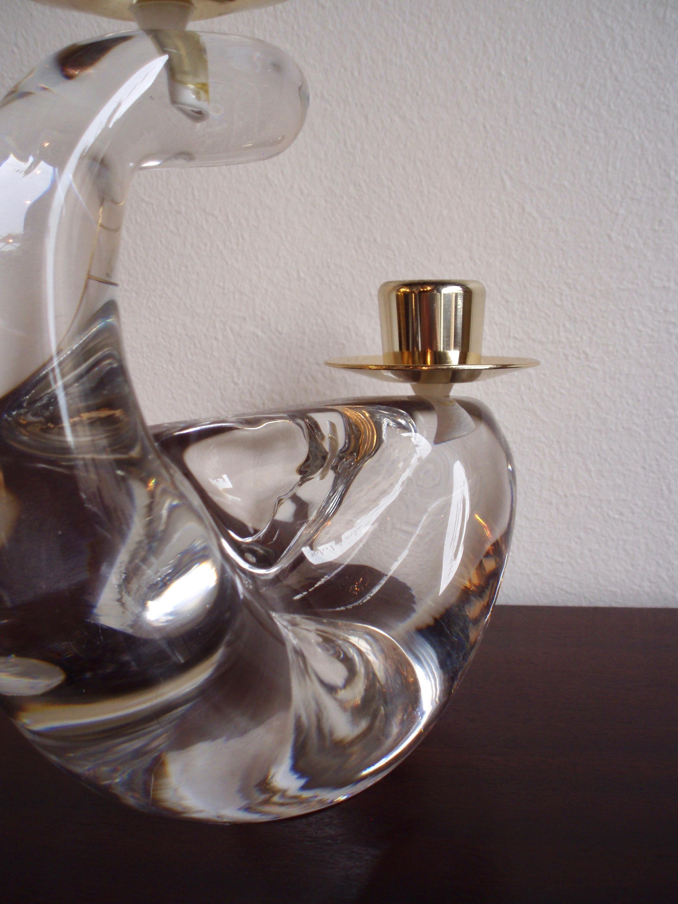 Bougeoir en cristal Schneider France année 60