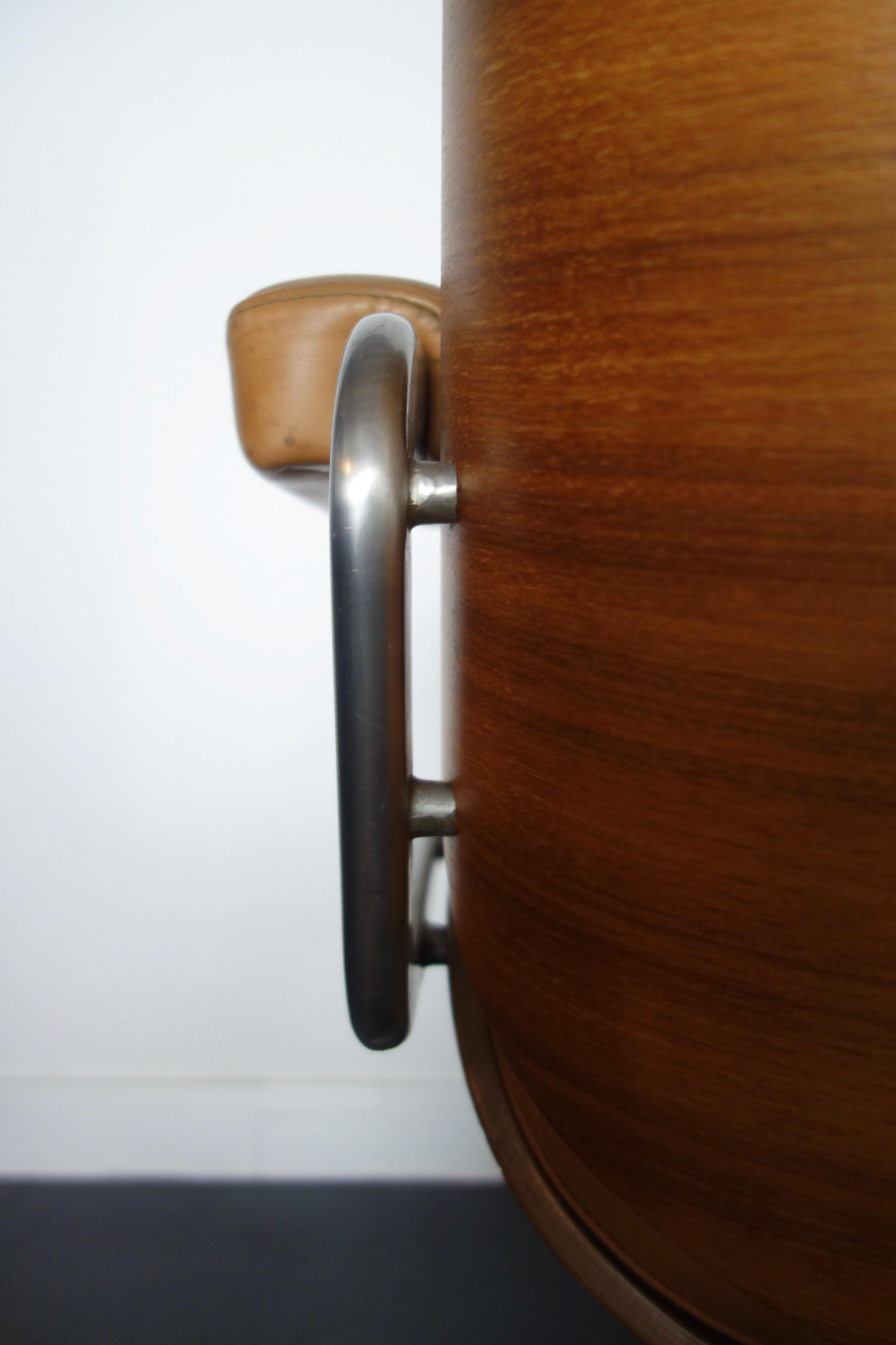 Fauteuil de bureau vintage en cuir par MARTIN STOLL 1970s