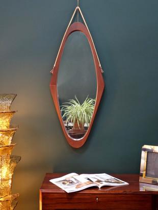 Miroir italien en teck